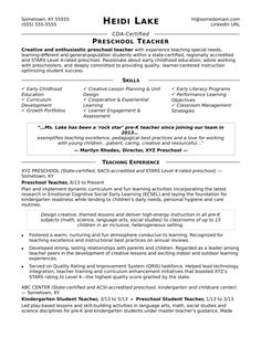 writing a teaching resumes