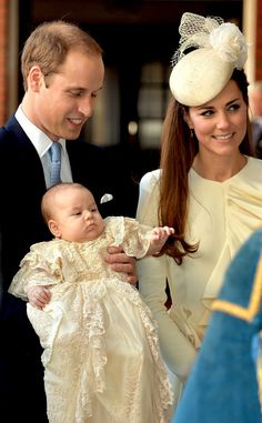 Kate Middleton looks simply stunning in Alexander McQueen at Prince George's royal christening! #fashion