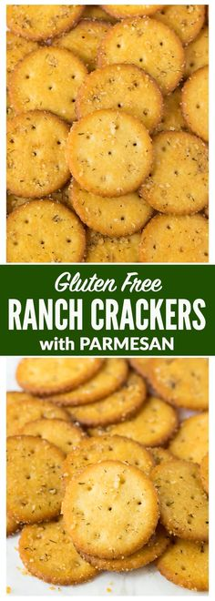 Gluten Free Parmesan Ranch Crackers. Easy, addictive, recipe that doesn't use a mix! Made with canola or olive oil, dill, garlic powder, and every day spices. Perfect for appetizers, snacks, and all your favorite dips! Includes both an original and spicy recipe option. Recipe at wellplated.com | @wellplated