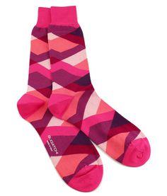 Bugatchi Abstract Bubblegum Dress Socks Men's fashion - men's style