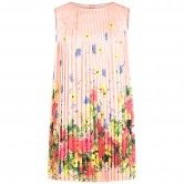 Liu-Jo Pink Pleated Floral Print Dress