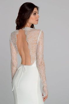 Lace and backless, I'm sold on this Tara Keely wedding dress