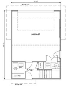 Granny pods addition Midway - Pacific Homes Garage Apartment Floor Plans, Garage Apartments, House Floor Plans, Log Home Plans, Barn Plans, Garage Plans, Garage House, Car Garage, Garage Studio