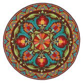 OMG, I love this.   Found it at Wayfair - Porcelain Rug