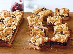 Peanut Butter and Jelly Bars recipe from Ina Garten via Food Network