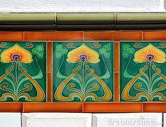 jugendstil | Jugendstil Tegels Royalty-vrije Stock Fotografie - Beeld: 5108287