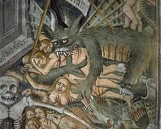 "A painting in the Sanctuary Notre-Dame des Fontaines, La Brigue called the ""Last Judgment : the damned souls""."