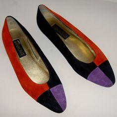 Vintage Red Black Purple Color Block Ballet by ExpertImageVintage, $20.00