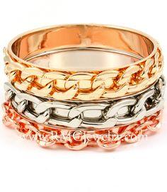 I found this on www.rmcjewelry.com #Chainlink  #Bangle #Bracelet