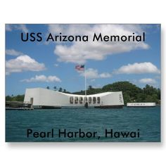 Shop USS Arizona Memorial, Pearl Harbor, Hawai Postcard created by vanduzees. Personalize it with photos & text or purchase as is! Uss Arizona Memorial, Holland America Cruises, Cruise Ship Reviews, Perfect Road Trip, Us Road Trip, Us National Parks, Paris Hotels, Pearl Harbor, Places To See