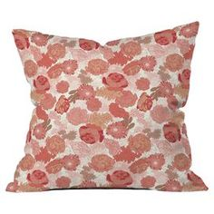 """Add a delightful pop of style to your home with this charming accent from DENY Designs.   Product: PillowConstruction Material: Polyester cover and fillColor: MultiFeatures:  Custom printed for every orderConcealed zipper with bun insert includedSix color dye process Designed by Sabine Reinhart for DENY DesignsDimensions: 18"""" x 18""""Cleaning and Care: Spot treat with mild detergent"""