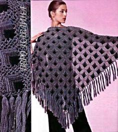 Схемы вязания шали - Схемы для вязания - Уроки вязания крючком - Вязание крючком, схемы для вязания крючком