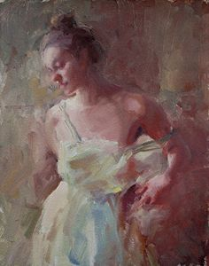 Girl in White Dress by Matt Linz was selected as a Finalist in the October 2013 BoldBrush Painting Competition.