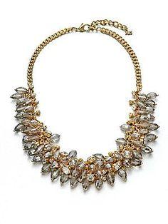 ABS by Allen Schwartz Jewelry Beaded Cluster Link Necklace
