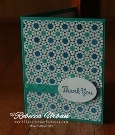Stampin' Up! Moroccan Nights DSP. Easy cards. Stampin' Up! Rebecca Urban