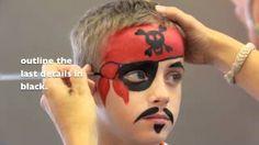 Pirate FACE PAINTING - MAQUILLAGE POUR ENFANTS, via YouTube.