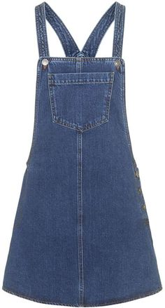Check out this weeks High Street Heros.Market & Retail Editor Harriet Stewart will layer this denim pinafore dress over a high-necked white blouse. Pinny Dress, Dungaree Dress, Dungarees, Denim Overalls, Denim Pinafore, Pinafore Dress, Blue Denim Dress, Denim Outfit, Denim Dresses