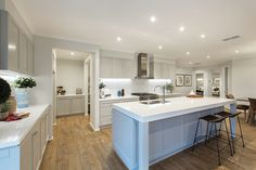 Country styled Classic Hamptons kitchen in the Hillside house design.