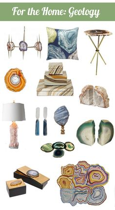 There are a lot of home accessories appearing in stores that are making one subject of science popular again and that's geology.  Geology is the study of the rocks of the Earth and what they reveal about its history and while some might consider it that uninteresting subject you skipped in college, one thing is [...]