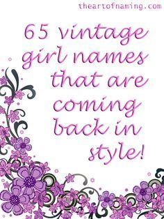 Is your favorite vintage girl name listed? #babynames