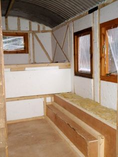 Matt added two inches of insulation to the walls
