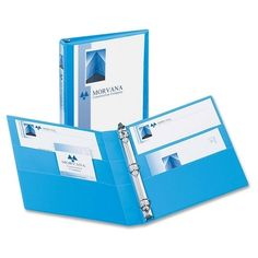 "avery consumer products 3-ring view binder, 1"" capacity, 11""x8-1/2"", light blue"