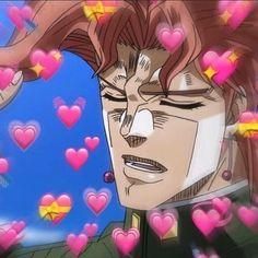 Instagram Jojo's Adventure, Jojo Bizzare Adventure, Cute Anime Boy, Anime Love, Heart Meme, I Have No Friends, Heart Emoji, Cute Love Memes, Jojo Memes
