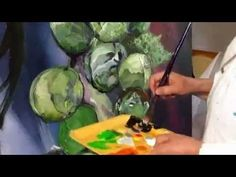 A video of a painting in progress. Sprouts, Videos, Painting, Brussels Sprouts, Persona, Painting Art, Paintings, Painted Canvas, Drawings