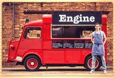 Street Food Van For Hire. Engine Hot Dogs