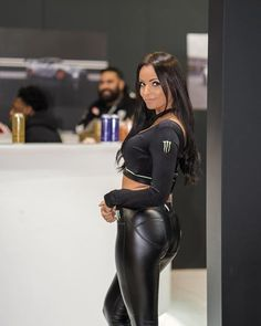 Leather Dresses, Leather Pants, Leather Outfits, Monster Energy Girls, Promo Girls, Hipster Girls, Grid Girls, Leggings Fashion, Sexy Outfits
