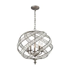Elk Lighting Renaissance Weathered Zinc 21 Inch Five Light Chandelier On SALE