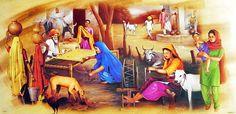 Village Life in Punjab (Reprint on Paper - Unframed)