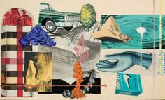 """Exit weeping, 1993 David Salle Acrylic and oil on canvas 72x120"""""""