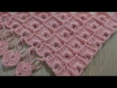 The construction of the fan model wrap - şal Baby Afghan Crochet, Baby Afghans, Crochet Stitches, Free Crochet, Knit Crochet, Octopus Crochet Pattern, Butterfly Stitches, Knitting Patterns, Crochet Patterns