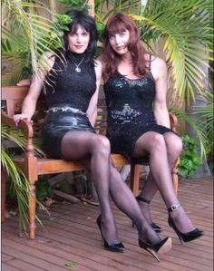 Transvestite with her girlfriend