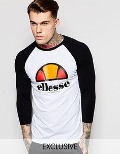 Ellesse 3/4 Sleeve Raglan T-Shirt With Large Logo
