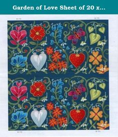 Garden of Love Sheet of 20 x Forever US Postage Stamps. Issue City: Crestwood, KY 40014 Issue Date: May 23, 2011 Issue Series: Love The 2011 Garden of Love (Forever®) issuance-ten different first-class stamps depicting a colorful mosaic of flora and fauna in a garden setting-is a continuation of the Love series, begun in 1973. Intended for use on Valentine's Day, Mother's Day, and Father's Day cards, these stamps will add beauty to any expression of love and affection. Working with art...