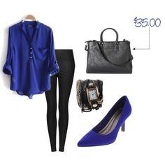 Style this Blue Shoe by @Andrea / FICTILIS Fellman