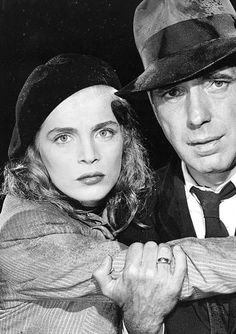 "Lizabeth Scott and Humphrey Bogart, ""Dead Reckoning"" (John Cromwell, 1947)."