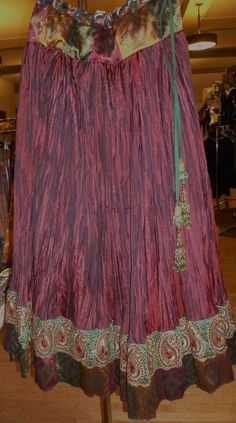 Sewing idea for belly dance skirt