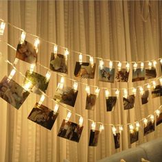LED Photo String Lights - Magnolora 20 Photo Clips Battery Powered Fairy Twinkle Lights, Wedding Party Christmas Home Decor Lights for Hanging Photos, Cards and Artwork, Warm White Indoor String Lights, Hanging Lights, Light String, Light Led, Light Bulb, Canopy Lights, Curtain Lights, Wall Lights, Fairy Lights