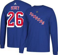 c45c00d3d6d93 adidas Men s New York Rangers Jimmy Vesey  26 Royal Long Sleeve Shirt