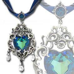 Alchemy Gothic Empress Eugenie Blue Heart Diamond Choker