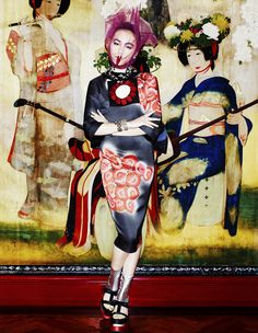 Saki Asamiya by Matt Irwin for Vogue Japan April 2013 #Geisha