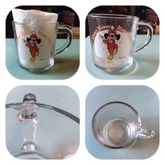 """M-I-C-K-E-Y M-O-U-S-E! This 1955 Mickey Mouse Club glass cup will make you want to garb your mouse ears and march around the house! There is a small chip by the handle but you can still use it to drink from or use it for decoration! About 4""""tall & made in USA. $8 leave email and zip to claim #mickeymouse #mickeymousecup #1955 #1950s #mouseketeers #mouseketeer #retro #vintage #mickeymouseclub #disney #vintagedisney #vintagehome #mouseears #tvwl50s"""