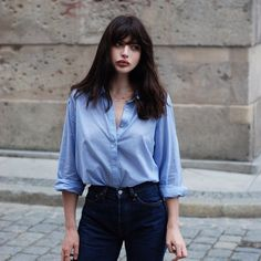 New Dress Blue Light Jeans Ideas Style Outfits, Mode Outfits, Fashion Outfits, Denim Fashion, Mode Style, Style Me, Belle Nana, Light Jeans, Light Blue Shirts