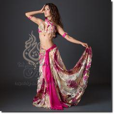 Hoyda ベリーダンス衣装 一体型 / Fuchsia Mix (w20hy1511-06) | ベリーダンス衣装【Hoyda】★ | | ベリーダンス衣装・通販 Fig