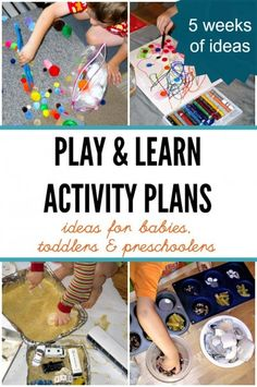 Activity plans for kids. Learning and play ideas.