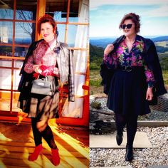Styling my 70's Vintage Blouses! 🥰🤗💕 · Donna Does Dresses Fast Fashion, Fashion Wear, Short Leather Jacket, Red Belt, Cute Jackets, Blouse Vintage, Pin Up Style, Black Tights, Cute Outfits