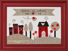 Home is where the heart is by countrykitty, via Flickr. would make nice table runner